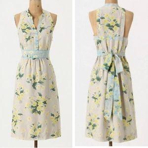 Anthropologie Maeve Yellow Floral Dutch Dress